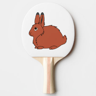 Natural Red Arctic Hare Ping Pong Paddle