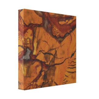 Natural Red Jasper and Quartz Photo Canvas Print