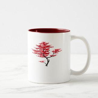 Natural Red Two-Tone Coffee Mug