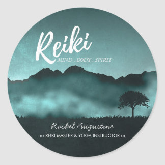 Natural Reiki Master and Yoga Mediation instructor Classic Round Sticker