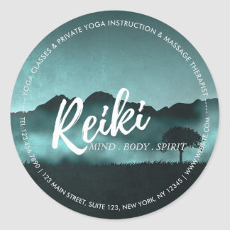Natural Reiki Master and Yoga Mediation instructor Round Sticker