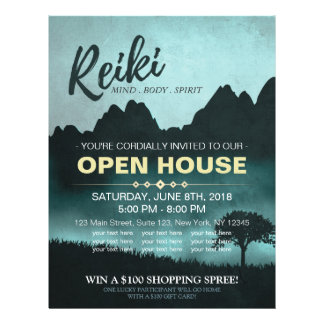 Natural Reiki Master & Yoga  instructor Open House 21.5 Cm X 28 Cm Flyer