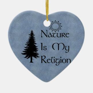 Natural Religion Ceramic Heart Decoration