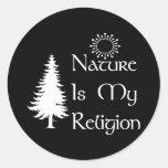 Natural Religion Round Sticker