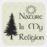 Natural Religion Square Stickers