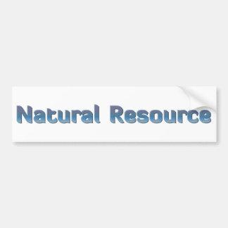 Natural Resource Car Bumper Sticker