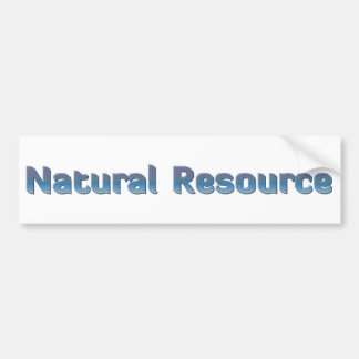 Natural Resource Bumper Sticker