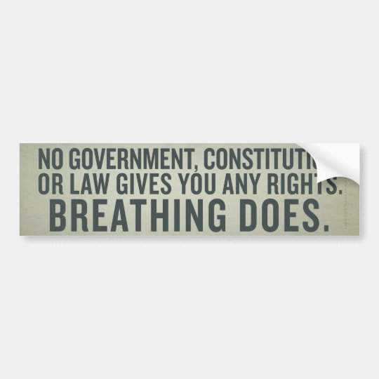 Natural Rights Bumper Sticker