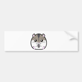 Natural Russian Dwarf Hamster Bumper Sticker