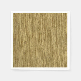 Natural Rustic Grainy Wood Background Paper Napkin