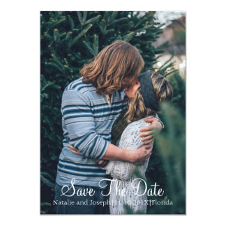 Natural | Sage and Caramel SAVE THE DATE PHOTO 13 Cm X 18 Cm Invitation Card