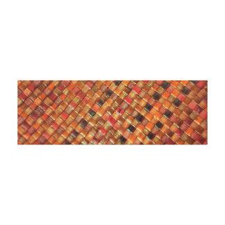Natural Sea Grass Weave Texture Canvas Print