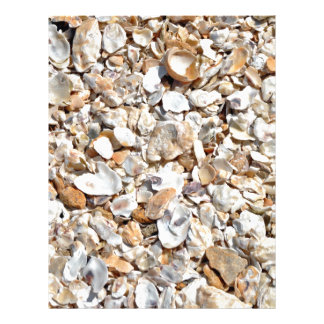 Natural Sea Shells Texture Personalized Flyer