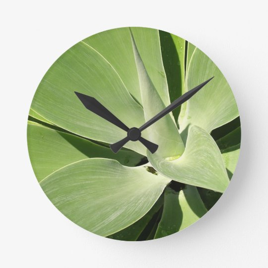 Natural Shades of Green Round Clock