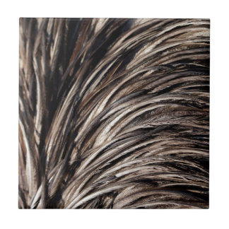 Natural Shimmering Bird Feathers Small Square Tile