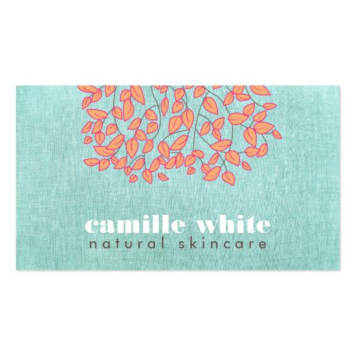 Collections of skincare business cards natural skincare beauty blue turquoise linen look business card template colourmoves