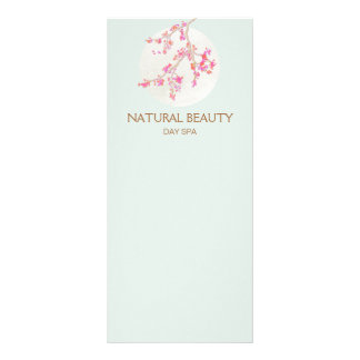 Natural Skincare Beauty Spa Cherry Blossoms Personalised Rack Card
