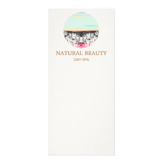 Natural Skincare Beauty Spa Sunrise Logo 10 Cm X 23 Cm Rack Card