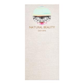 Natural Skincare Beauty Spa Sunrise Logo No. 2 Custom Rack Cards