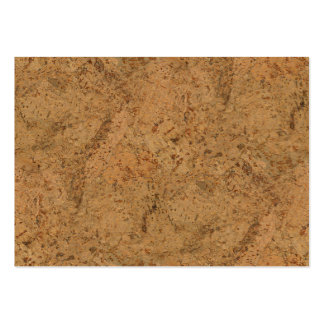 Natural Smoke Cork Bark Wood Grain Look Pack Of Chubby Business Cards