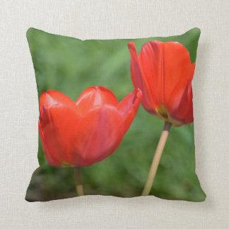 Natural Spring Tulip Floral Cushion