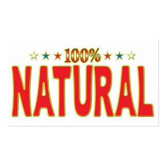 Natural Star Tag Pack Of Standard Business Cards