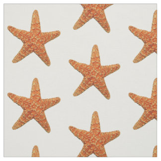 Natural Starfish Photo Fabric
