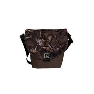 Natural stone bronze courier bag