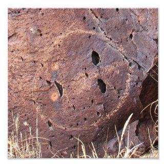 Natural Stone Petroglyph Photo Print