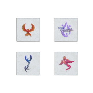 Natural Stone Phoenix Voyager Magnet Set