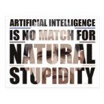 Natural Stupidity Postcard