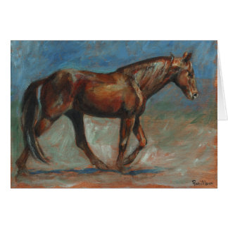 """""""Natural Tennessee Walking Horse"""" Card"""