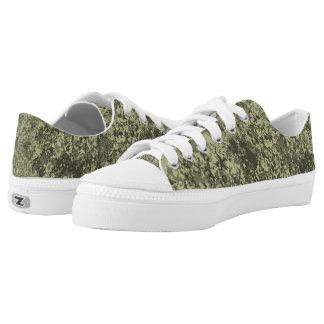 Natural Texture Green Printed Shoes