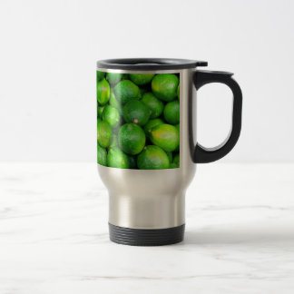 Natural Textures - Limes Stainless Steel Travel Mug