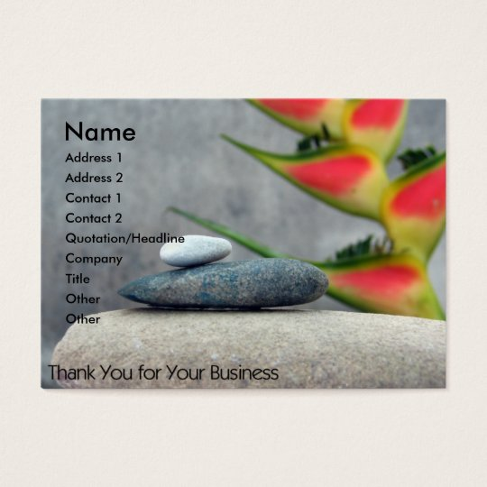 Natural Thank You Business Card