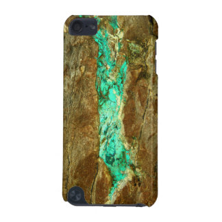 Natural turquoise vein in rough brown stone iPod touch (5th generation) case