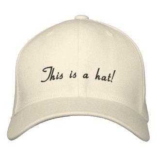 Natural uni-colored Design Embroidered Baseball Caps