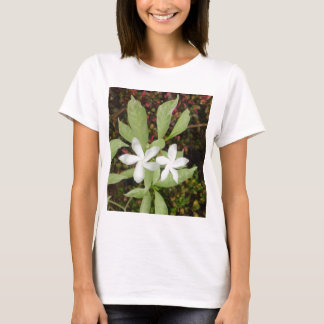 Natural White Beautiful Flower T-Shirt