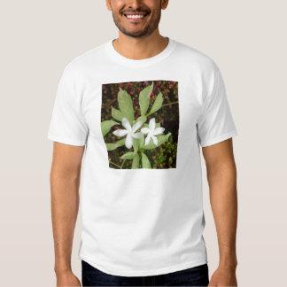 Natural White Beautiful Flower T Shirt