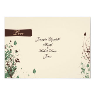 Natural Wonder in Ivory and Brown Wedding 13 Cm X 18 Cm Invitation Card