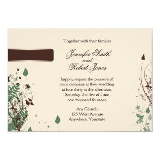 Natural Wonder in Ivory and Brown Wedding Invitat 13 Cm X 18 Cm Invitation Card