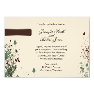 Natural Wonder in Ivory and Brown Wedding Invitat 5x7 Paper Invitation Card