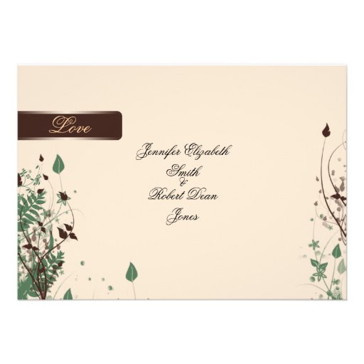 Natural Wonder in Ivory and Brown Wedding Invites