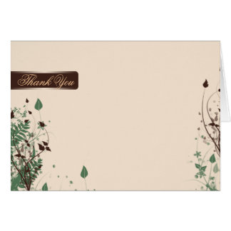 Natural Wonder in Ivory Brown Wedding Thank You Stationery Note Card
