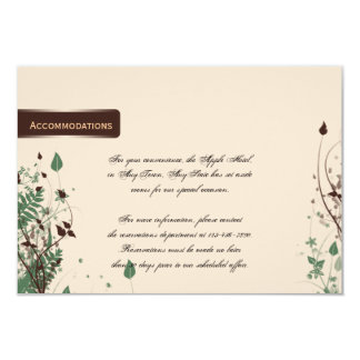Natural Wonder Ivory Brown Wedding Accomodations 9 Cm X 13 Cm Invitation Card
