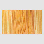 Natural Wood Grain Design 1 Rectangular Sticker