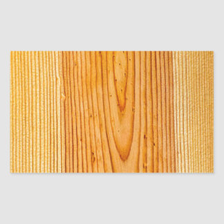 Natural Wood Grain Design 1 Rectangular Sticker