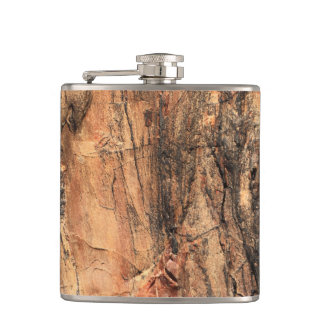 Natural Wood Pattern Flask