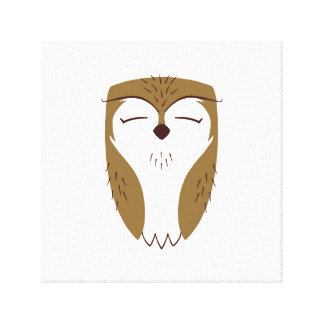 Natural Woodland Owl Canvas Print