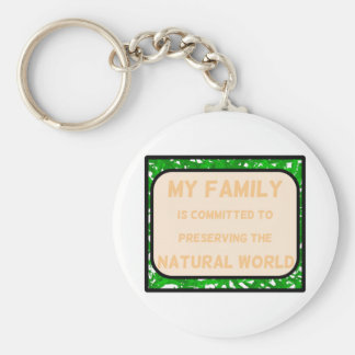 Natural World Basic Round Button Key Ring